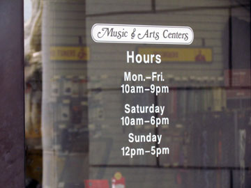 Business Hours Decals Store Hours Stickers GraphXonline - Window decals for business hours